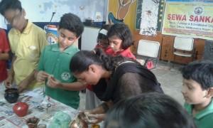 Vocational training program related to ceramic work